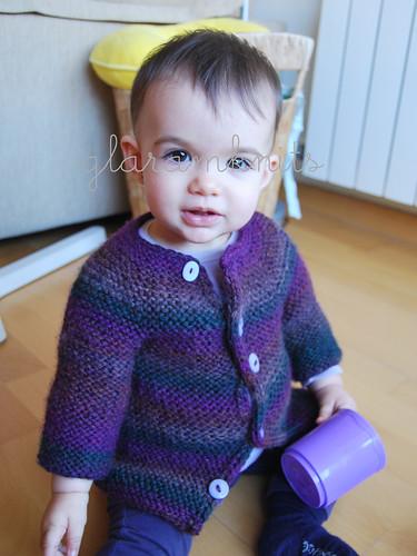 baby garter stitch jacket abrigo bebé punto bobo