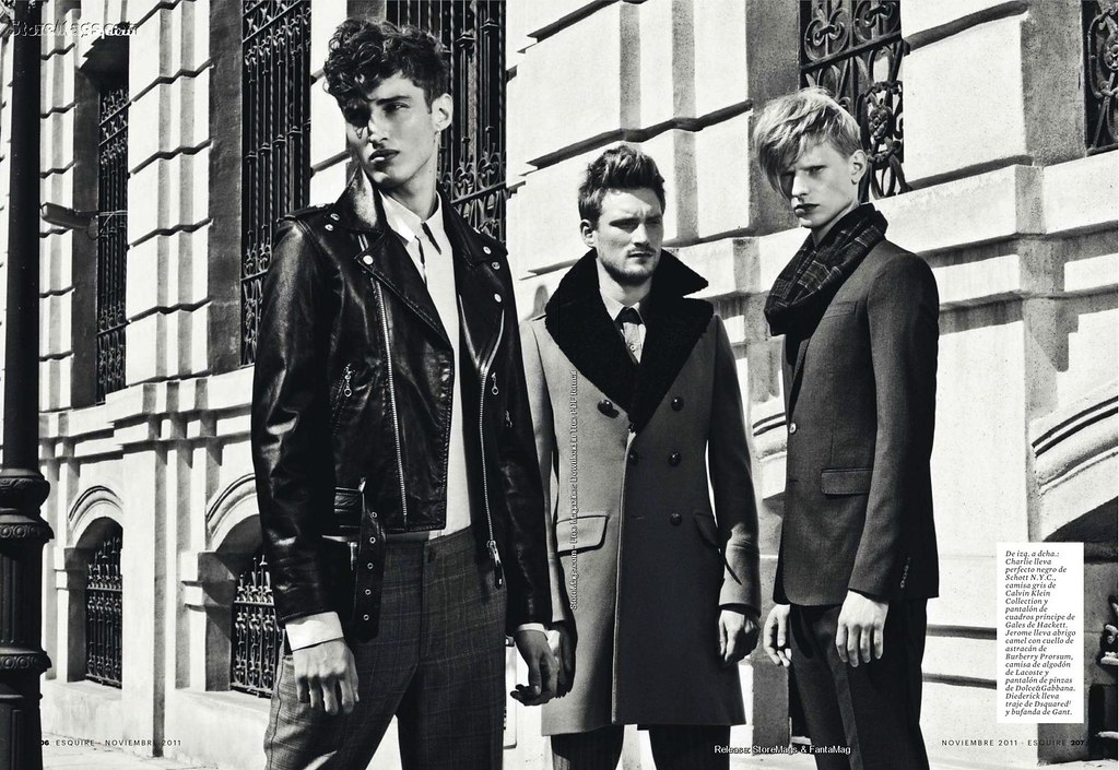 Esquire Spain December 2011_026Charlie France,Jerome Clark,Diederik Van der Lee(Flashbang@TFS)