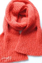 Mohair cable rib scarf