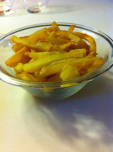Cantonigròs | Ca l'Ignasi | Guarnición del fricandó: patatas fritas