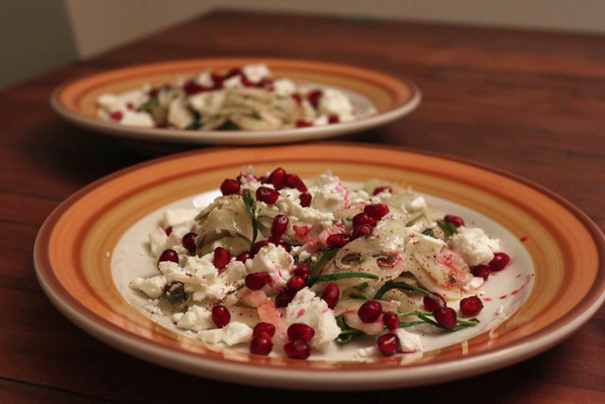 : Fennel and Feta with Pomegranate Seeds and Sumac / Couscous ...