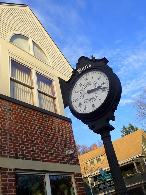 Huron Village - Cambridge Trust Co. clock, Cambridge, MA
