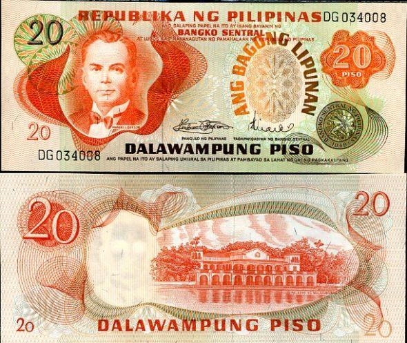 20 Piso Filipíny 1978, Pick 155