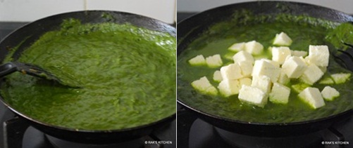 step 7 palak paneer recipe