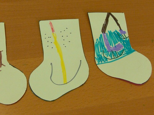 Jenny: Stocking Advent Garland Kid Craft