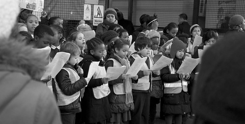 Children signing carols