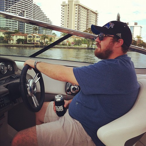 Zac driving the #boat
