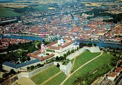 Würzburg - Festung Marienberg from Air (Postcard)