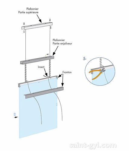 porte-affiche extra-plat lumineux suspendu par cables sch 001