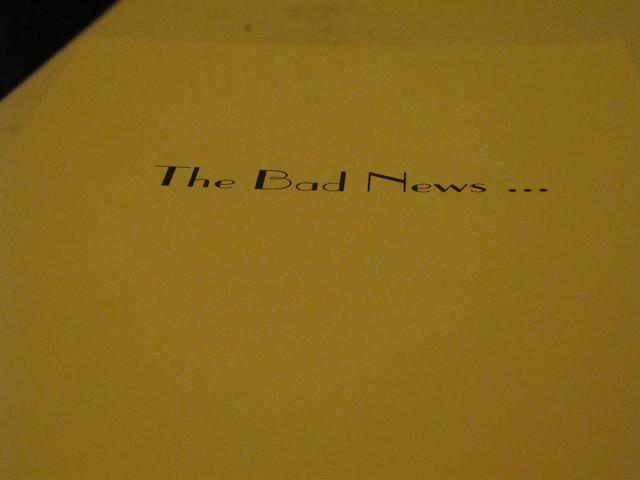 The Bad News...