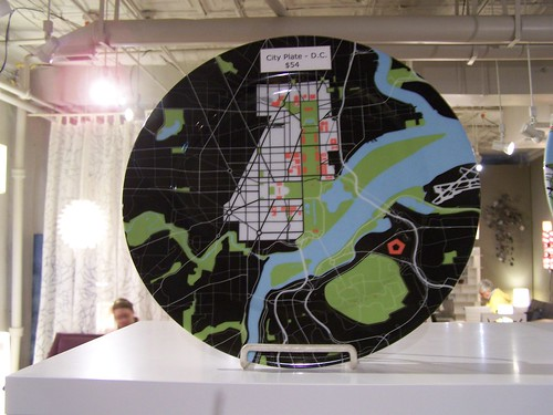 DC plan on a plate, by Rios Clementi Hale Studies (available from Homebody, 8th Street SE, Capitol Hill, DC)