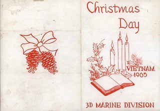 Christmas Day Menu, 3d Marine Division, Vietnam, 1965, Page 1 of 2