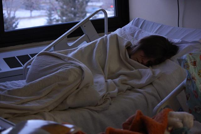 sleeping hospital