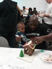 Making gingerbread Houses at RMH LA