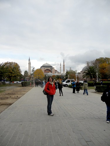 Laura in front of Hagia Sofia