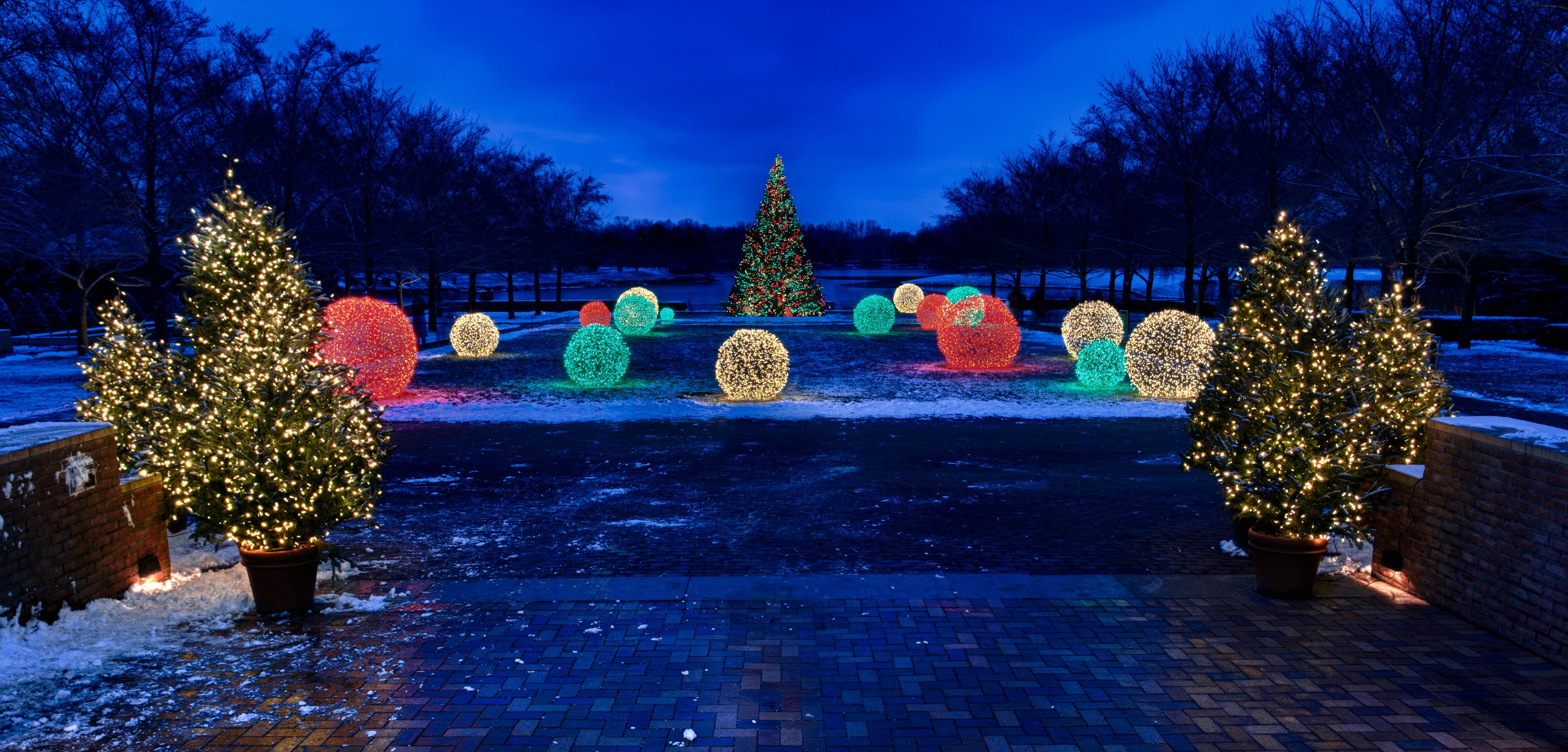 Chicago Botanic Garden Holiday Lights Flickr Photo Sharing
