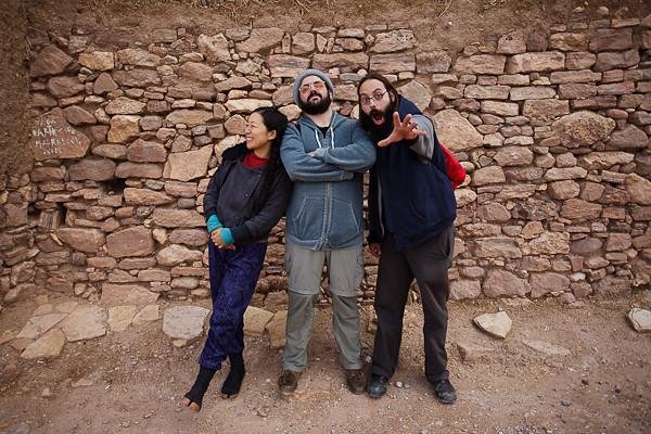 Maroc 2011 - Yuka, Justin et Shanir - US backpakers - Aït Ben Haddou