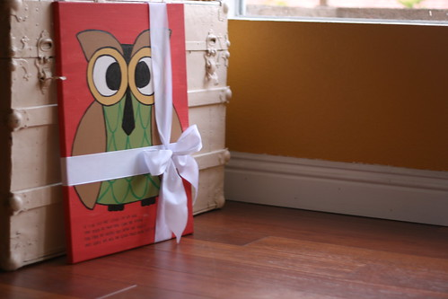owl canvas.