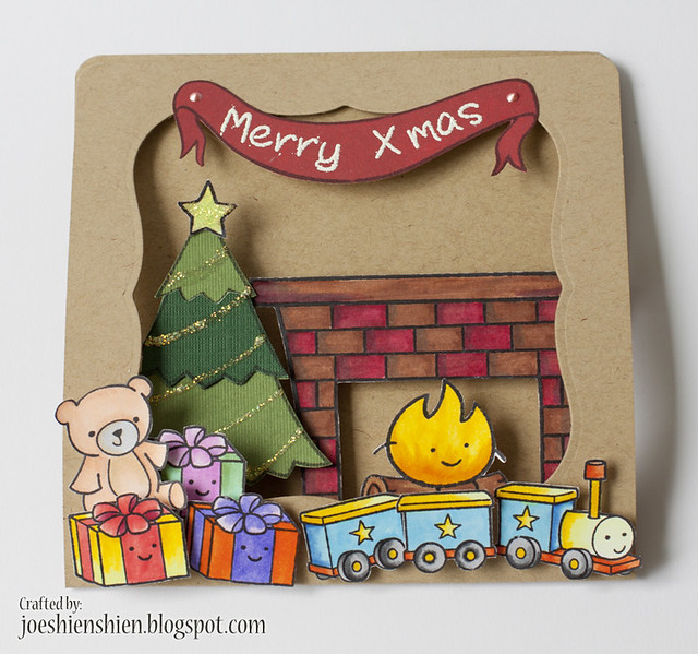 Christmas - window & pop up card