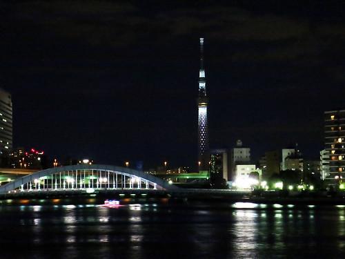 white illumination of Tokyo Sky Tree