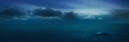 [フリー画像素材] 自然風景, 河川・湖, パノラマ, 青色・ブルー ID:201112300000