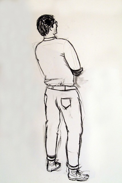 Life drawing of a man standing | Flickr - Photo Sharing!