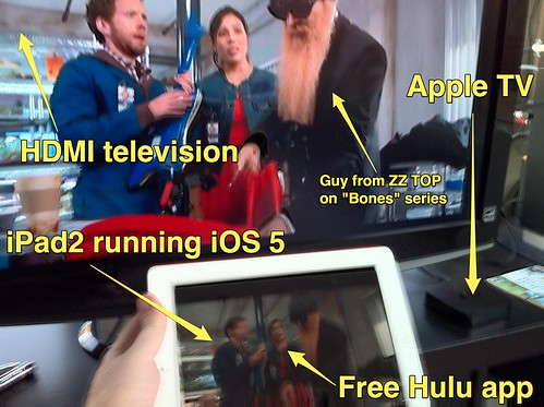 Hulu Streaming via Airplay to Apple TV
