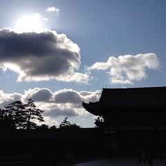 東大寺の空。