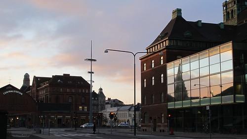 Dawn over Malmö Central Station, Malmö