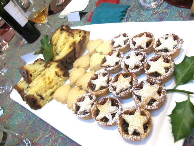 Panettone, shortbread, mince pies