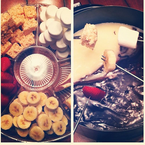 I heart fondue. Happy New Years friends. #newyearseve #fondue #eatyourheartoutmeltingpot