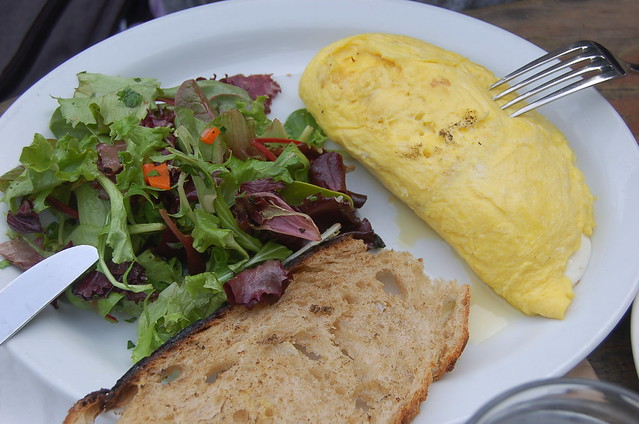Omelette at Big Sur Bakery
