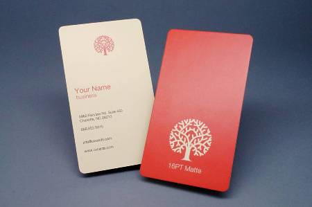 Matte business card with rounded corners 14pt or 16pt for Business card rounded corners