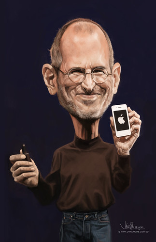 digital caricature of Steve Jobs