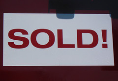 sold sign from FLickr member Lodeez http://www.flickr.com/photos/lodeez/ creative commons