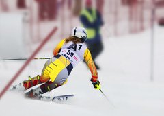 Madison Irwin in Lienz slalom.