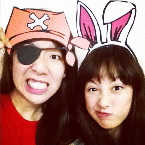 a bunny & pirate