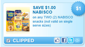 Nabisco Snacks Coupon