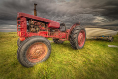 farm, field, wheel, vehicle, agricultural machinery, land vehicle, rural area, tractor,