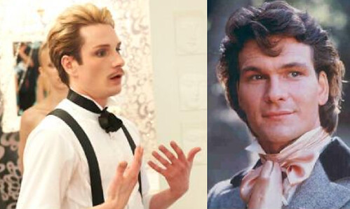 Austin Scarlett and Patrick Swayze, side by side