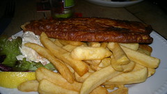 meal, breakfast, steak, fish and chips, fried food, steak frites, schnitzel, french fries, food, dish, cuisine, fast food,