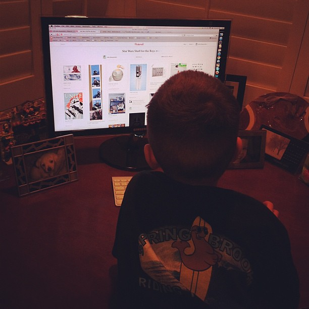 My son found @Pinterest and the Star Wars board that I created. He's been on here for an hour.