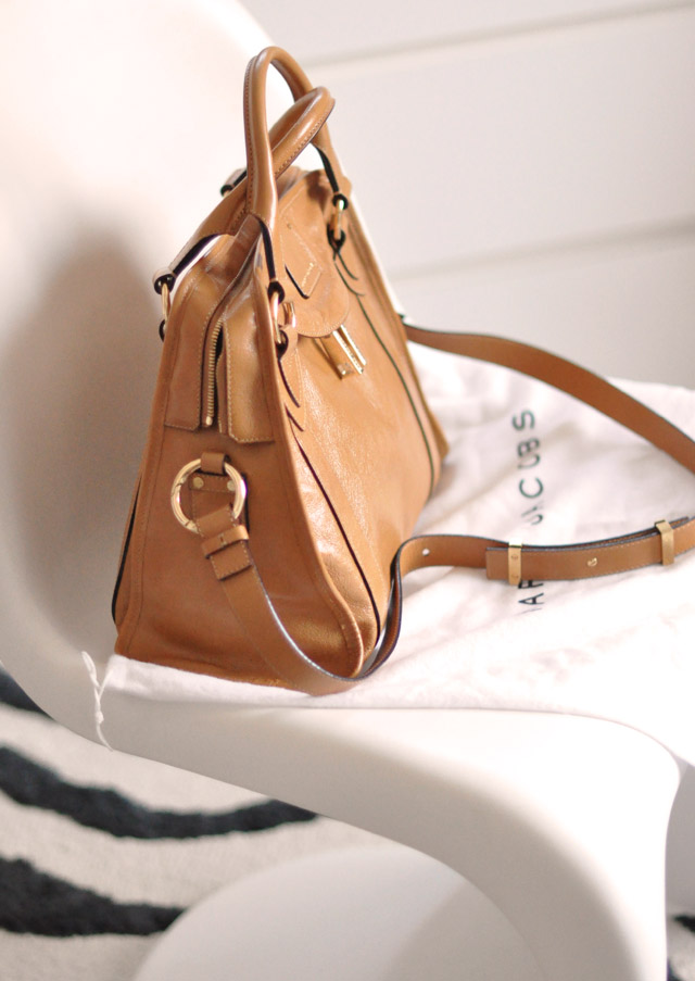 classic marc jacobs bag - camel leather bag