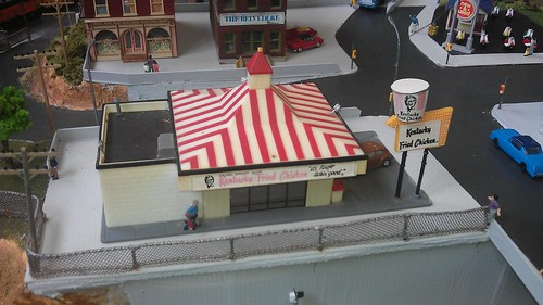 70s era Kentucky Fried Chicken outlet as seen at Tauranga model railway club expo