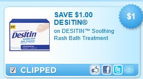 Desitin Soothing Rash Bath Treatment Coupon
