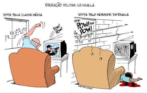 Operação na favela, por Carlos Latuff