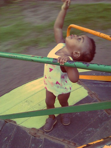 Thanda Having Fun In The Playground