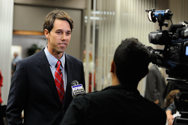 Beto O'Rourke Gives Interview Prior to the Candidate Forum