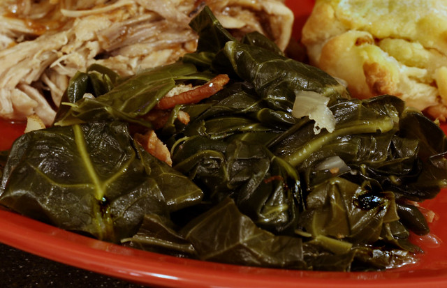 Braised Collard Greens with Ham-Hock Broth