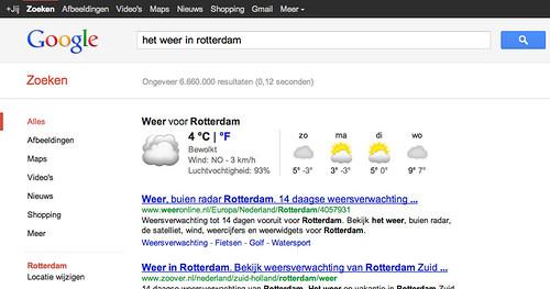 Google.nl het weer